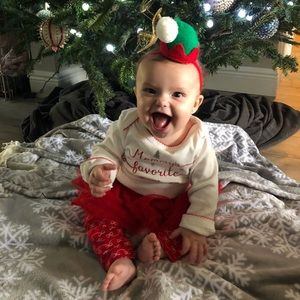 Carters girls baby Christmas outfit